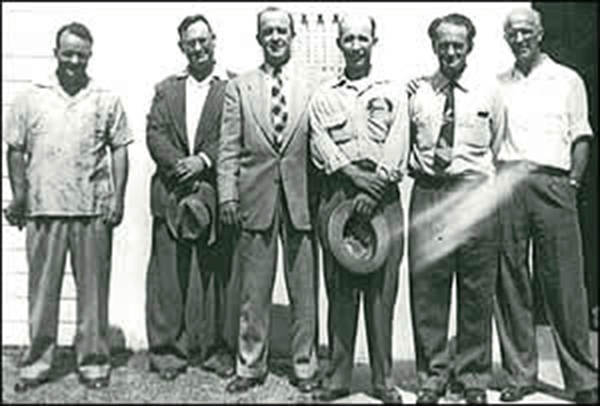 TCA Western Division Founders, September, 1954
